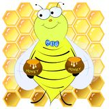 Bees and honeycombs vector illustration. Bees and honeycombs cartoon vector illustration vector illustration