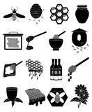 Bees icons set Royalty Free Stock Image