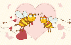 Bees in love Royalty Free Stock Photo