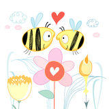 Bees love royalty free illustration