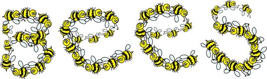Bees Message Stock Photo
