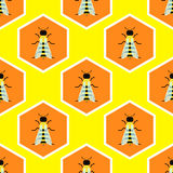 Bees seamless pattern design royalty free stock photography