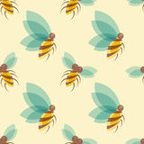 Bees seamless pattern Royalty Free Stock Image