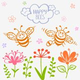 Bees two Royalty Free Stock Photo