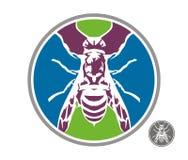 Bees wasps colors circle Royalty Free Stock Images