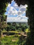 BEESTON, CHESHIRE/UK - 16. SEPTEMBER: Alte Ruinen von Beeston C lizenzfreie stockfotos
