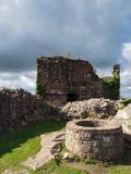 BEESTON, CHESHIRE/UK - SEPTEMBER 16 : Ancient Ruins of Beeston C Royalty Free Stock Photo