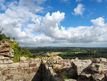 BEESTON, CHESHIRE/UK - SEPTEMBER 16 : Ancient Ruins of Beeston C Royalty Free Stock Images