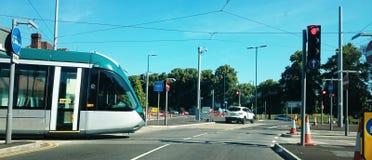 Beeston tram is coming Stock Photos