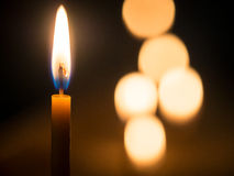 Beeswac candles Stock Images