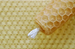 Beeswax Candle Royalty Free Stock Images
