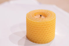 Beeswax candle Royalty Free Stock Photography