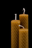 Beeswax candles Royalty Free Stock Photos