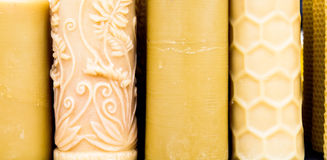 Beeswax candles Royalty Free Stock Photo