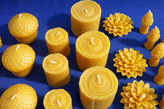 Beeswax Candles royalty free stock image