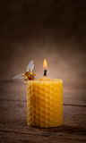 Beeswax candles Stock Photo