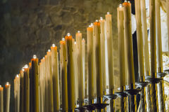 Beeswax candles Stock Photos