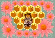 Beeswax i kwiaty royalty ilustracja