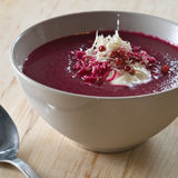 Beet And Apple Soup Stock Photography