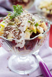 Beet-apple salad with walnut dressing Royalty Free Stock Photo