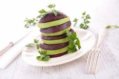 Beet and avocado salad Royalty Free Stock Image