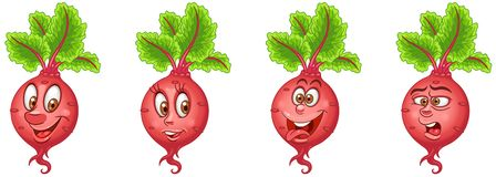 Beet. Beetroot. Food Emoji Emoticon collection royalty free stock photos