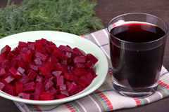 Beet and beetroot juice Royalty Free Stock Image