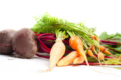 Beet and carrot Royalty Free Stock Image