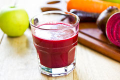 Beet ,Carrot and Apple juice royalty free stock photo