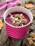 Beet cream soup Royalty Free Stock Image