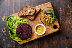 Beet cutlet Stock Images