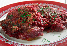 Beet Fritters Stock Photo