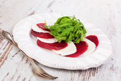 Beet with goat cheese. Stock Photo