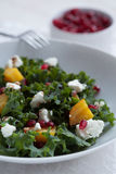 Beet, Goat Cheese and Pomegranate Salad with seeds Royalty Free Stock Images