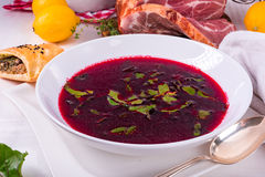 Beet green soup Stock Images