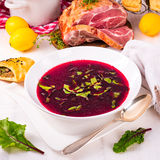 Beet green soup Royalty Free Stock Photography