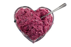 Beet heart Royalty Free Stock Photos