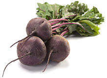 Beet with leaf Royalty Free Stock Photography