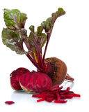 Beet with leaves Royalty Free Stock Images
