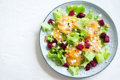 Beet and oranges salad Royalty Free Stock Photo