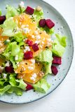 Beet and oranges salad Royalty Free Stock Images