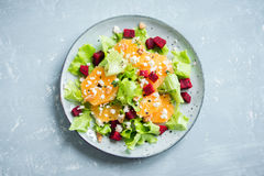 Beet and oranges salad with feta Royalty Free Stock Photos