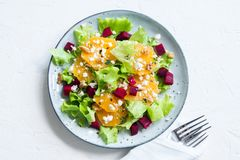 Beet and oranges salad Royalty Free Stock Photos