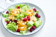 Beet and oranges salad Royalty Free Stock Image