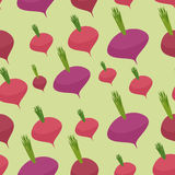 Beet pattern. Seamless background with dark red beets. Vector te Royalty Free Stock Photography
