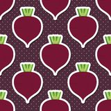 Beet pattern. Seamless texture with beetroot Stock Photography