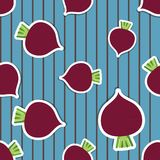 Beet pattern. Seamless texture with beetroot Stock Photo