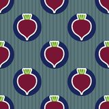 Beet pattern. Seamless texture with beetroot Stock Image