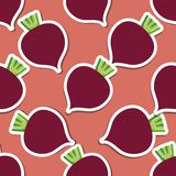 Beet pattern. Seamless texture with beetroot Royalty Free Stock Photo