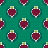 Beet pattern. Seamless texture with beetroot Royalty Free Stock Image
